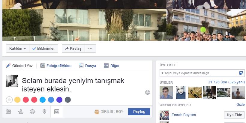 facebook 2 ADIM - ARKADAŞ EKLEME